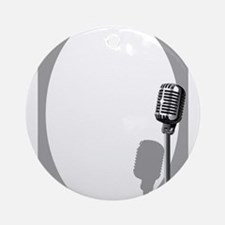 Musical Event Microphone Poster Round Ornament