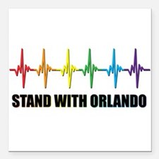 "Stand With Orlando Square Car Magnet 3"" x 3"""