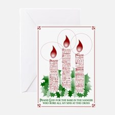 Candle Christmas Greeting Card