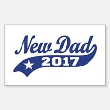 New Dad 2017 Sticker (Rectangle)