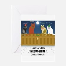 Meow-sical Christmas Greeting Card