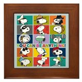 Snoopy teacher Framed Tiles
