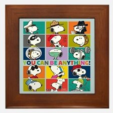 Snoopy-You Can Be Anything Framed Tile