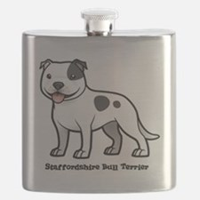 Cute Staffordshire terrier Flask