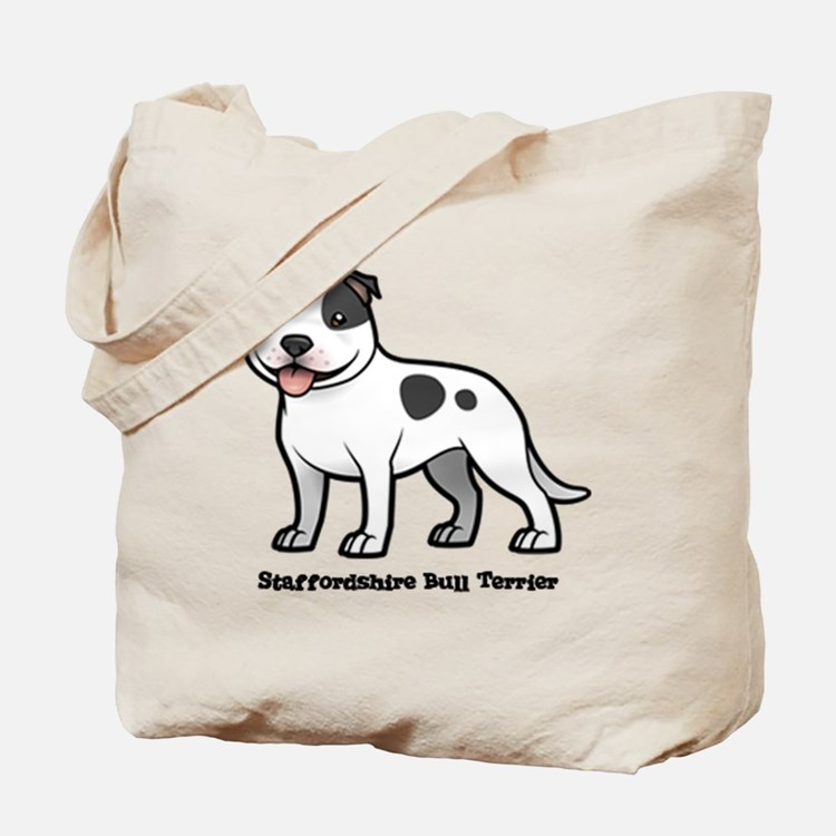 Cute Staffordshire Tote Bag