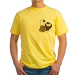 Three Pigeons Yellow T-Shirt
