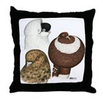 Three Pigeons Throw Pillow