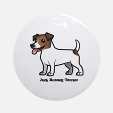 Cute Jack russell terrier owner Round Ornament