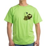 Three Pigeons Green T-Shirt