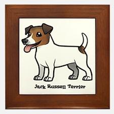 Cute Jack russell terrier vintage Framed Tile