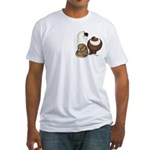 Three Pigeons Fitted T-Shirt