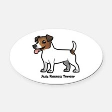 Unique Jack russell terrier Oval Car Magnet