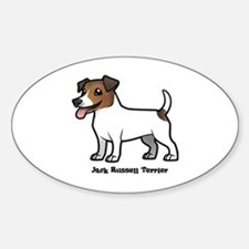 Cute Jack russell Sticker (Oval)