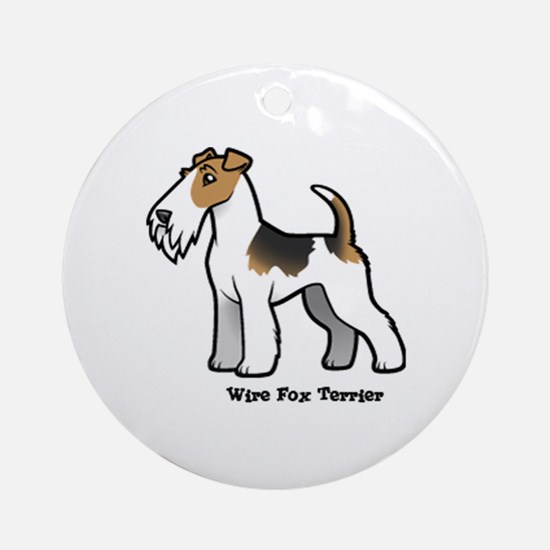 Cute Wire fox terrier Round Ornament