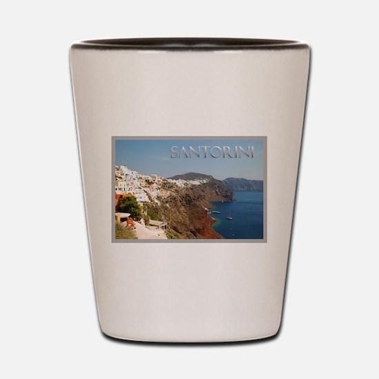 Oia Greece Santorini Island Travel Shot Glass