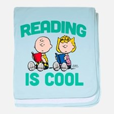 Charlie & Sally Brown-Reading is Cool baby blanket