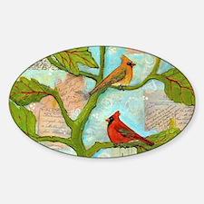 Cardinal Birds Love Notes Decal