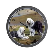Old English Sheepdog Wall Clock