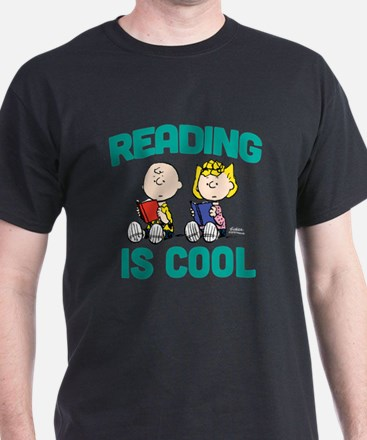 Charlie & Sally Brown-Reading is Cool T-Shirt