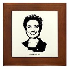Hillary Clinton Face Framed Tile