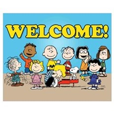 Peanuts Gang-Welcome Wall Art Framed Print