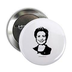 Hillary Clinton Face Button