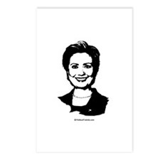 Hillary Clinton Face Postcards (Package of 8)