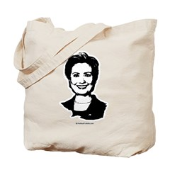 Hillary Clinton Face Tote Bag
