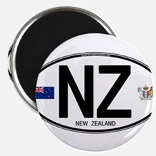 New Zealand Euro Oval Magnets