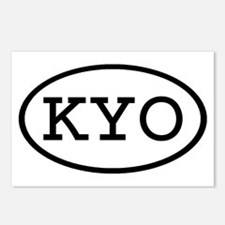 KYO Oval Postcards (Package of 8)
