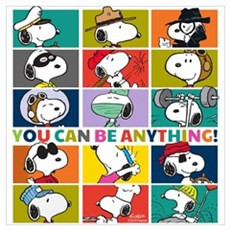 Snoopy-You Can Be Anything Wall Art Poster