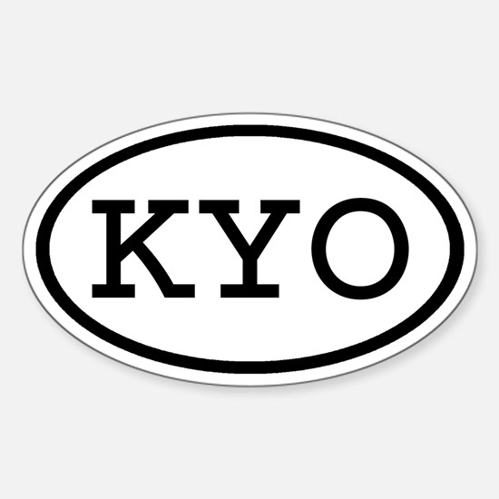 KYO Oval Oval Decal