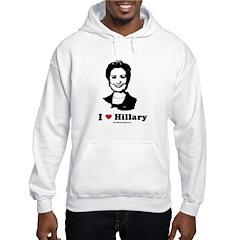 I heart Hillary Hooded Sweatshirt