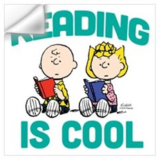 Charlie & Sally Brown-Reading is Cool Wall Art Wall Decal
