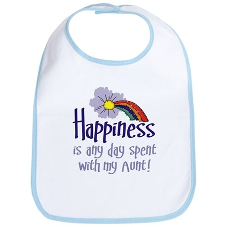 HAPPINESS IS DAY WITH MY AUNT! Bib