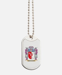 Brannigan Coat of Arms (Family Crest) Dog Tags