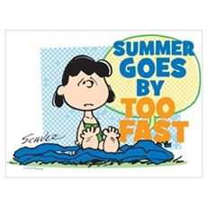 Lucy-Summer Goes By Too Fast Wall Art Poster