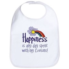 HAPPINESS IS DAY W/ MY COUSINS Bib