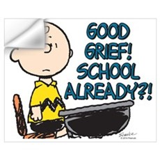 Charlie Brown - Good Grief! School Alread Wall Art Wall Decal