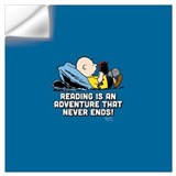 Peanuts reading Wall Decals