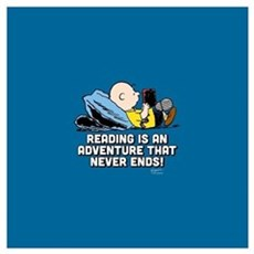 Charlie Brown - Reading is an Adventure Wall Art Poster