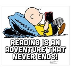 Charlie Brown - Reading is an Adventure Wall Art Canvas Art