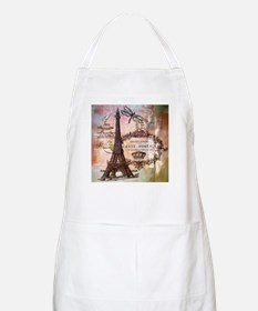 Eiffel tower collage Apron