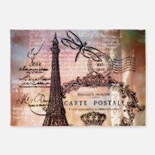 Eiffel tower collage 5'x7'Area Rug