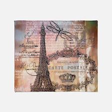 Eiffel tower collage Throw Blanket