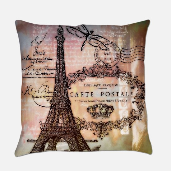 Eiffel tower collage Everyday Pillow
