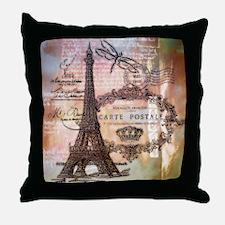 Eiffel tower collage Throw Pillow