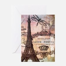 Eiffel tower collage Greeting Cards