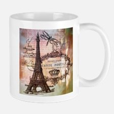 Eiffel tower collage Mugs