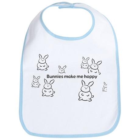 Bunnies Make Me Hoppy Bib